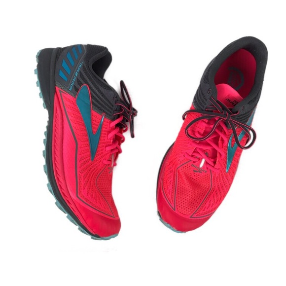 Brooks Shoes - Brooks Mazama Pink And Gray Trail Running Shoe